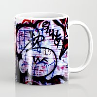 graffiti Mugs featuring Graffiti by Ian Bevington