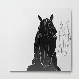 Horse couple Metal Print