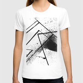 black and white spray paint T-shirt