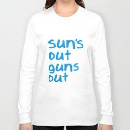 Suns Out Guns Out Vest Mens Vest Gym Surf Movie Summer 22 Jump Street Gun T-Shirts Long Sleeve T-shirt