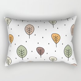 cute autumn pattern background with leaves Rectangular Pillow