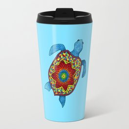 Turtley Awesome Mosaic Turtle Travel Mug