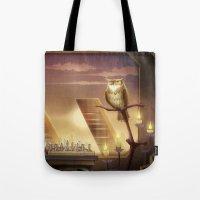 blade runner Tote Bags featuring Blade Runner by MircoPinna