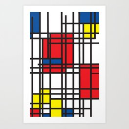 Primary Colors 5 Art Print