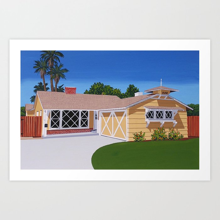 Birdhouse Ranch Deluxe Art Print