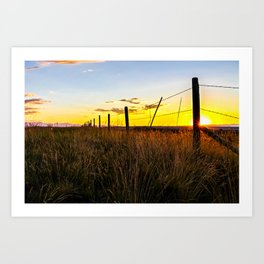 Sunset in Bozeman Art Print