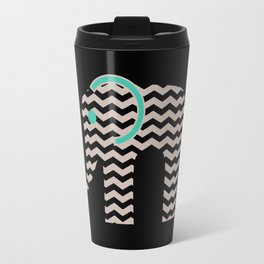 Teal Chevron Elephant Travel Mug