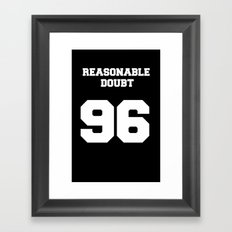 Reasonable Doubt Varsity Framed Art Print