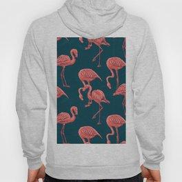 Living coral flamingo pattern Hoody