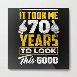 Birthday 70 Years Metal Print