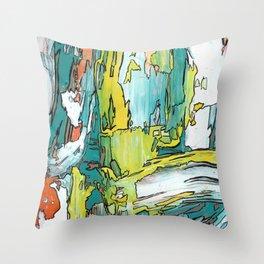 Salutations Abstract Modern Fine Art Throw Pillow