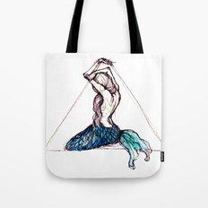mermaid triangle Tote Bag