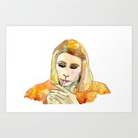 Art Print featuring Margot Tenenbaum by Tessa Heck