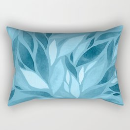 Abstract Watercolour Leaf III Rectangular Pillow