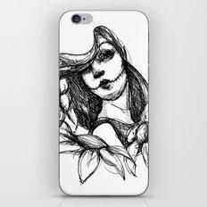 Skull Girl iPhone & iPod Skin
