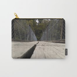 george river walking bridge wood perspective Carry-All Pouch