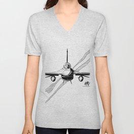F-16 Viper Head On Unisex V-Neck