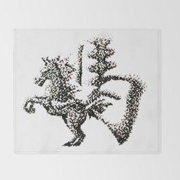 The Zodiac 12 - Horse Throw Blanket