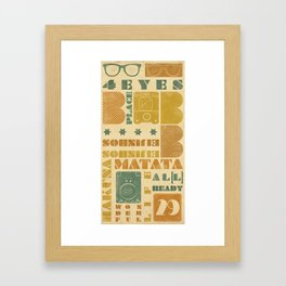 b_place Framed Art Print