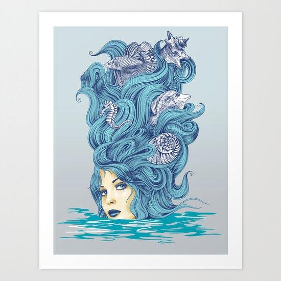 Ocean Queen Art Print