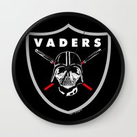 oakland Wall Clocks featuring Oakland Vaders by Ant Atomic