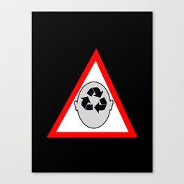Recycling head Canvas Print