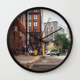 Crossing the divide Wall Clock