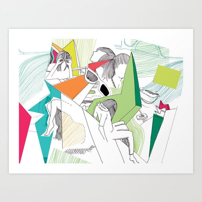 L-eyes Art Print