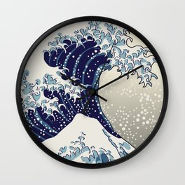 Digital copy of the Great wave Wall Clock