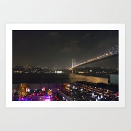 Istanbul Lights! Art Print