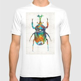 Colorful Beetle Art - Scarab Beauty - By Sharon Cummings T-shirt