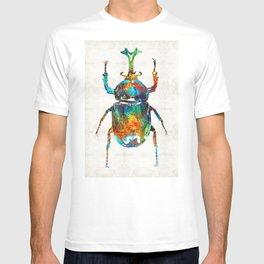 Colorful Beetle Art - Scarab Beauty - By Sharon Cummings T-shirt