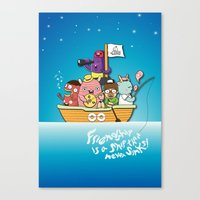 friendship Canvas Prints featuring Friendship by Gunawan Lo
