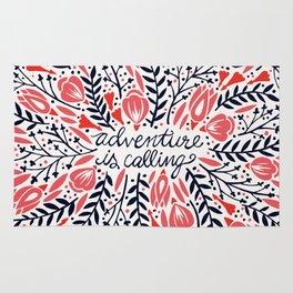 Adventure is Calling – Red & Black Palette Rug