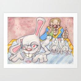 Snort'n Rabbits Art Print