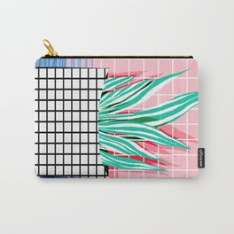 Glam - pop art memphis neon house plants throwback retro 80s style cool brooklyn style minimalism Carry-All Pouch