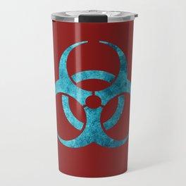 Blue Biohazard Symbol Travel Mug