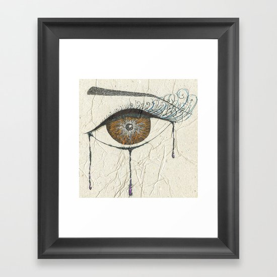Sad Eye Framed Art Print