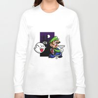 haunted mansion Long Sleeve T-shirts featuring Haunted Mansion by phiROLL Art & Design