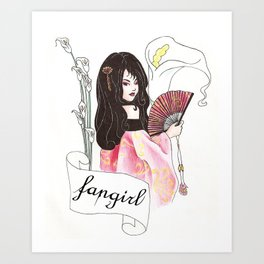 Fangirl Art Print