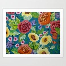 Flora Form Art Print
