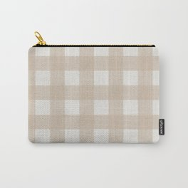 Gingham Cloth / Beige Checks Carry-All Pouch
