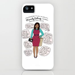 Mindy Kaling the Imaginary Best Friend iPhone Case