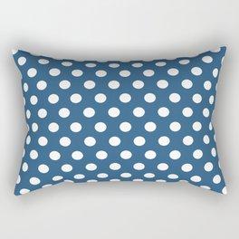 Blue Dot Pattern Rectangular Pillow