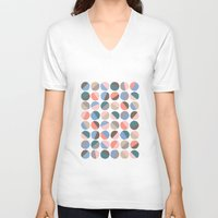 pills V-neck T-shirts featuring Serenity pills by Alexandra Aguilar