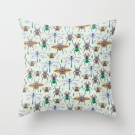 lucky insects Throw Pillow