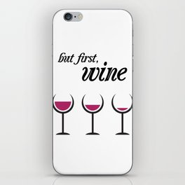 First, Red Wine iPhone Skin