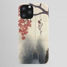 Shibata Zeshin - Autumn Maple, Shiitake Mushroom, Kettle - Digital Remastered Edition iPhone Case