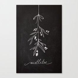 Chalkboard Art - Mistletoe Canvas Print