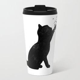 Poetic cat Travel Mug